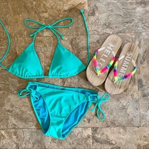 Victoria's Secret Swim Slide Triangle Top & Bottom